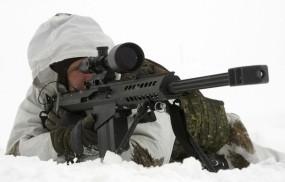 Обои снайперская винтовка barret: Снег, Снайперская винтовка, Прицел, Стрелок, Оружие