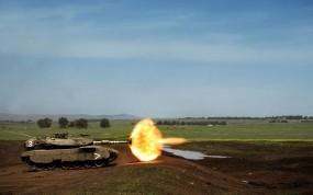 Обои Танк Т-95: Танк, Выстрел, полигон, Оружие