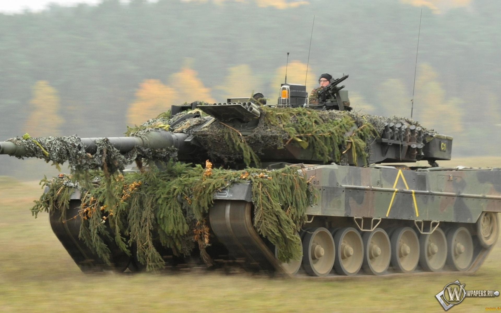 Танк Leopard 2A6  1920x1200