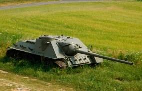 Обои Сау СУ-100 : Танк, САУ, Оружие
