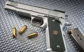Обои Пистолет с пулями: Обойма, Оружие, Пистолет, Пули, Оружие