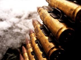 Обои Пулемётная лента: Патроны, Пулемётная лента, Крупный калибр, Оружие