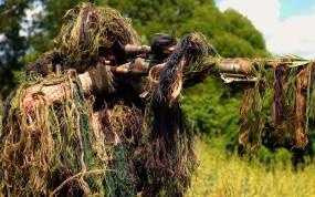 Обои Cнайпер: Винтовка, Снайпер, Маскировка, Камуфляж, Оружие