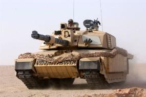 Обои Танк Challenger II: Пустыня, Песок, Танк, Жара, Оружие
