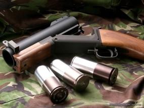 Обои Мини гранатомет: Ствол, Оружие, Пули, Гранатомёт, Оружие