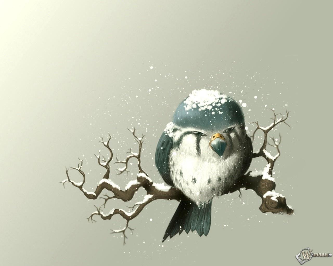 Снегирь 1280x1024