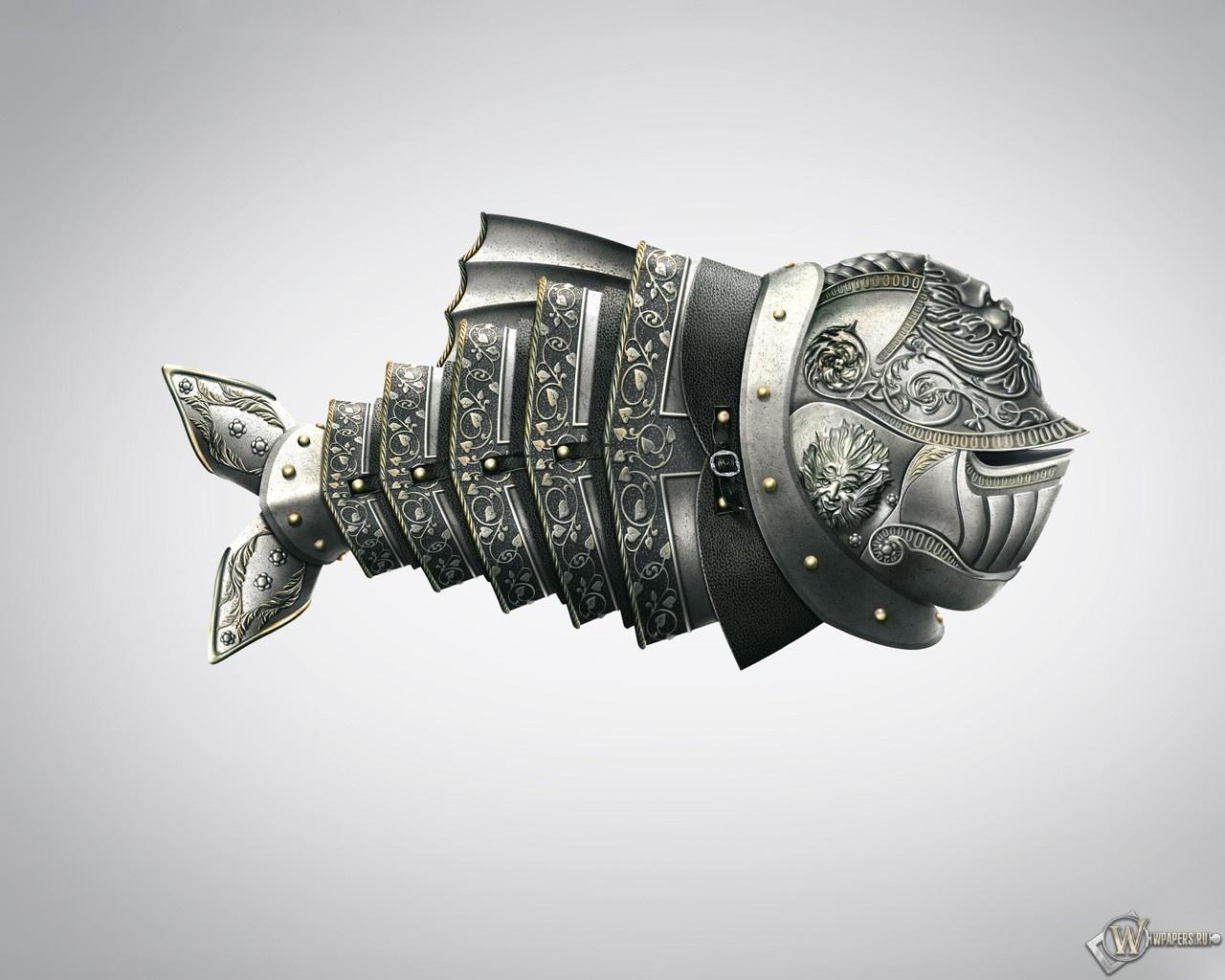 Рыба в доспехах 1280x1024