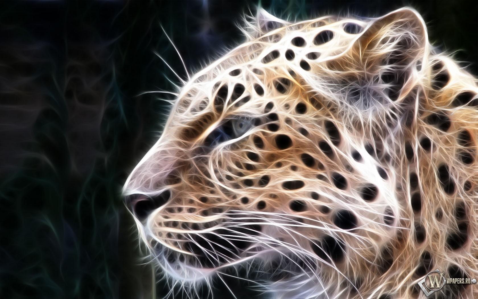 Рисованный Леопард 1680x1050