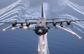Обои Lockheed AC-130: Море, Самолёт, Самолеты