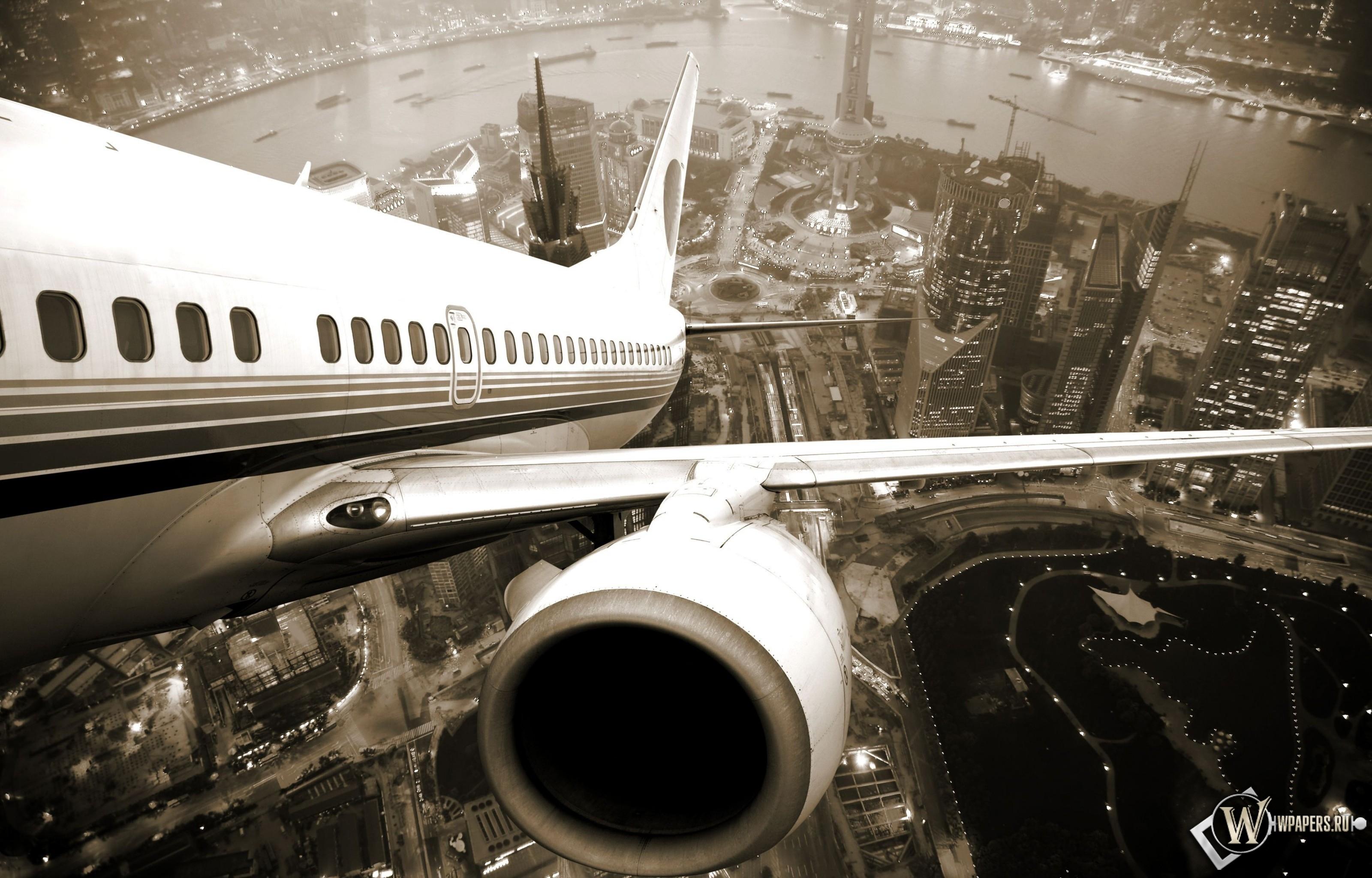 Взлет самолета 3200x2048