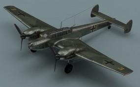 Обои Messerschmitt Bf-110: Макет, Messerschmitt, Самолеты