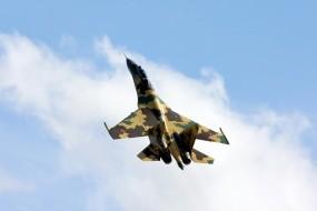 Обои Су-35: Небо, Самолёт, Су-35, Воздух, Самолеты