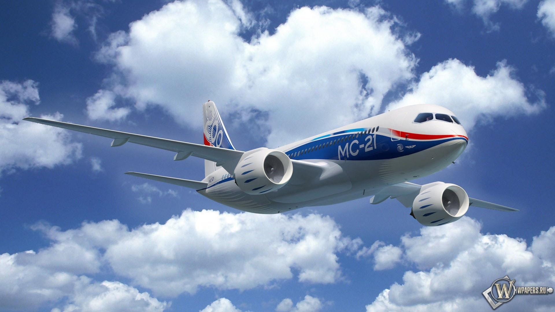 Самолет MC-21 1920x1080