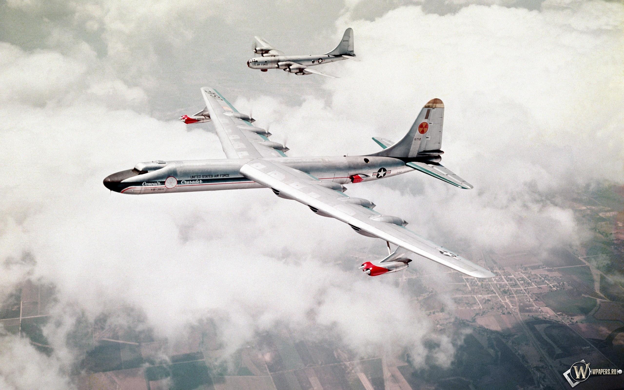 Обои бомбардировщик, Облака, Самолёт. Авиация foto 16