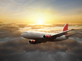 Обои Самолет в небе: Облака, Небо, Самолёт, Самолеты