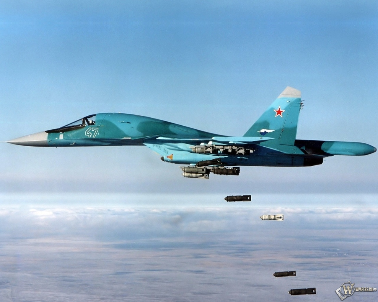 Бомбы из Су 34 1280x1024