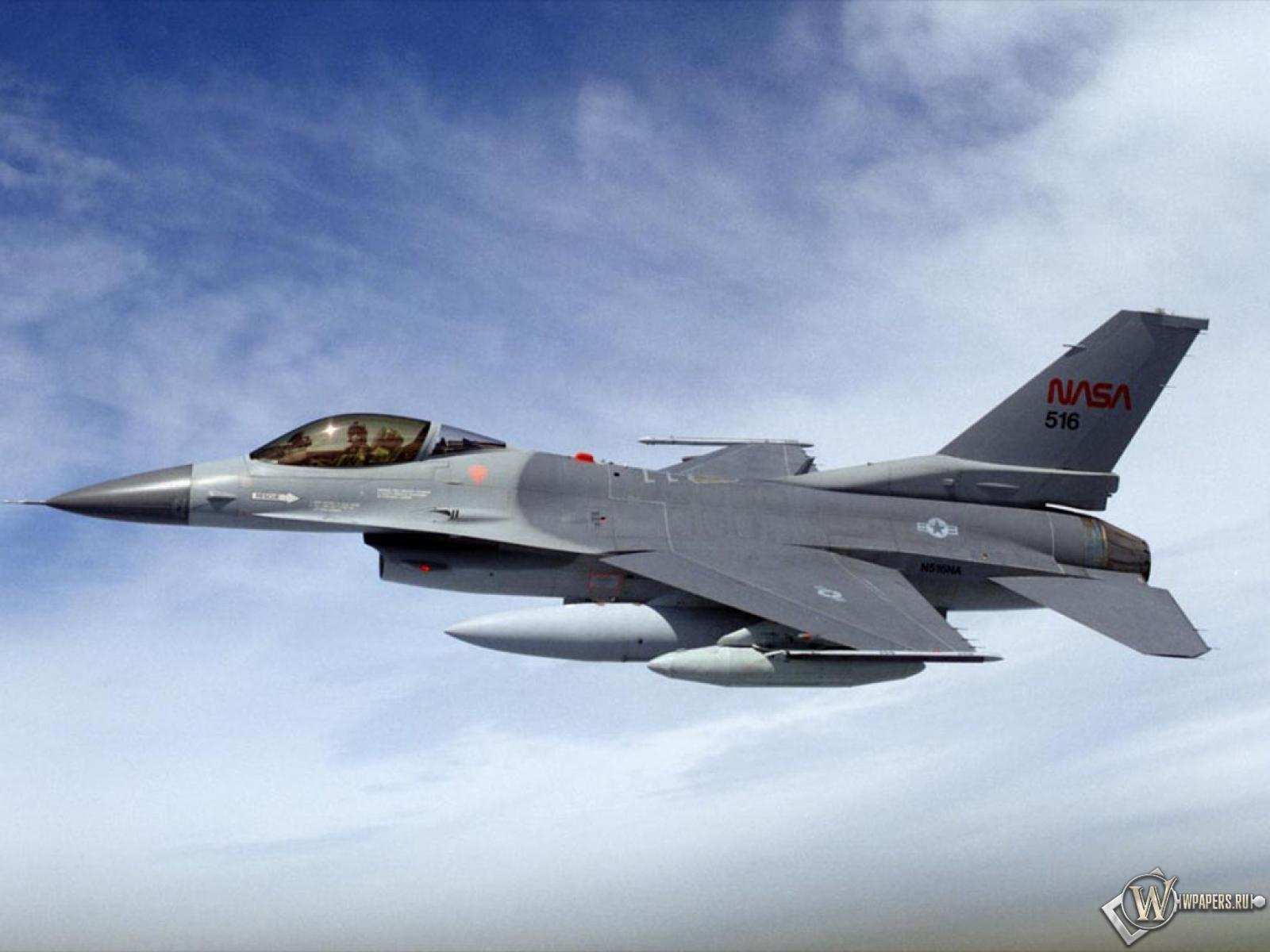 Истребитель F-16 NASA 1600x1200