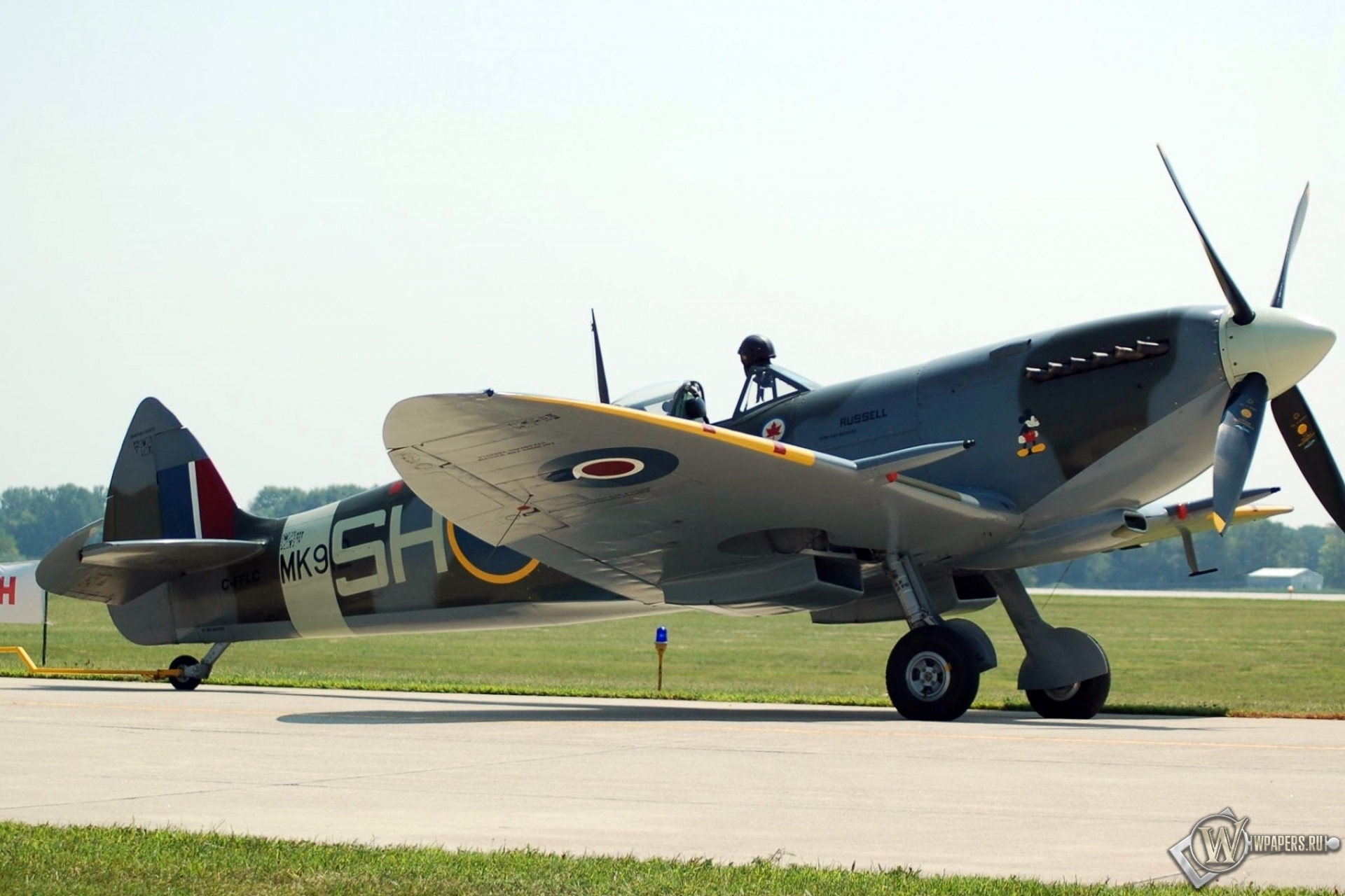 Обои spitfire, mk.ixc, Supermarine. Авиация foto 18
