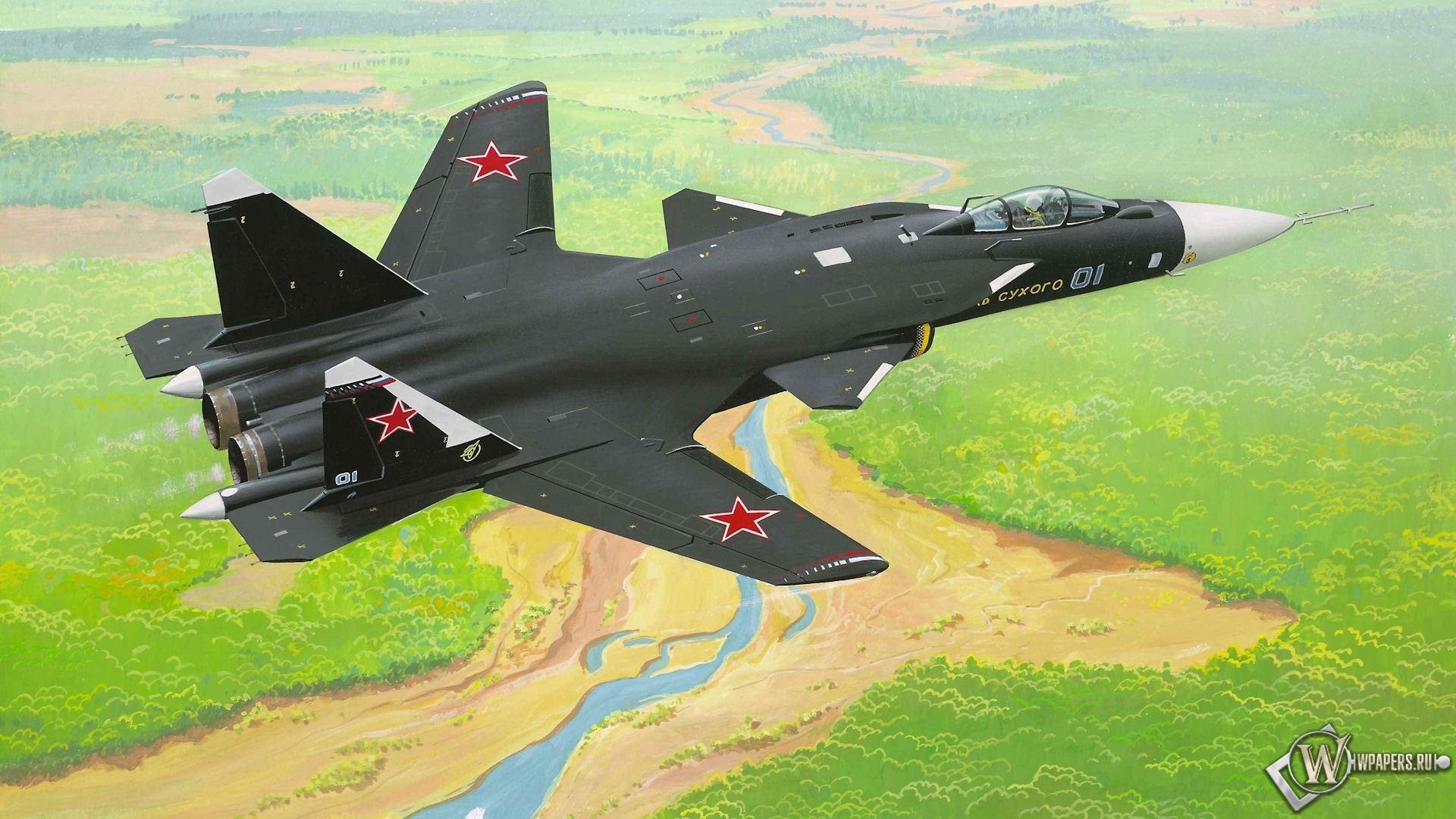 Су-47 1920x1080