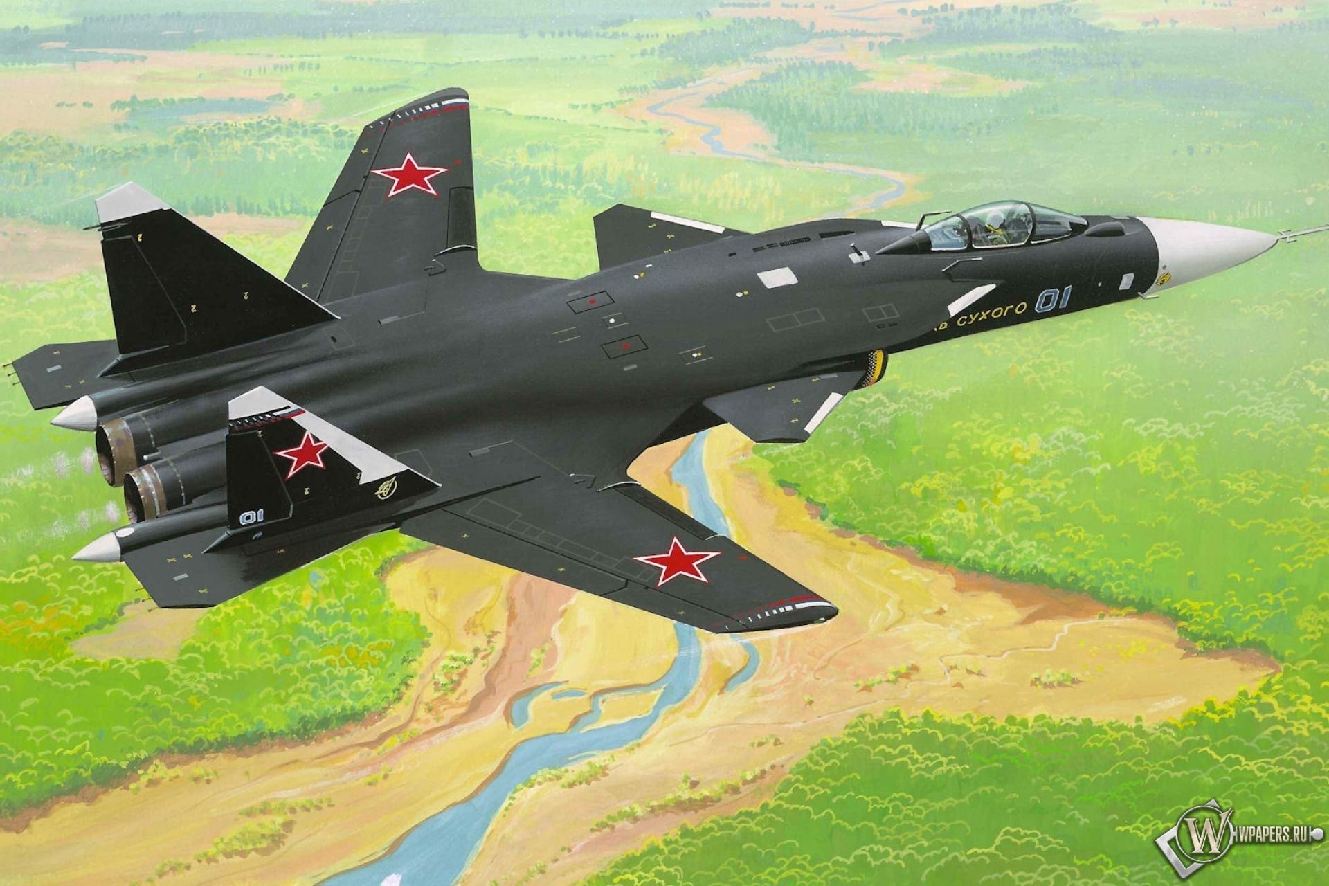 Су-47 1920x1280