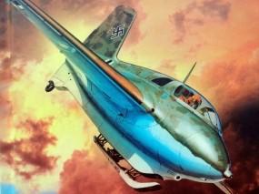 Обои Messerschmitt Me-163B-1a: Messerschmitt, Истребители