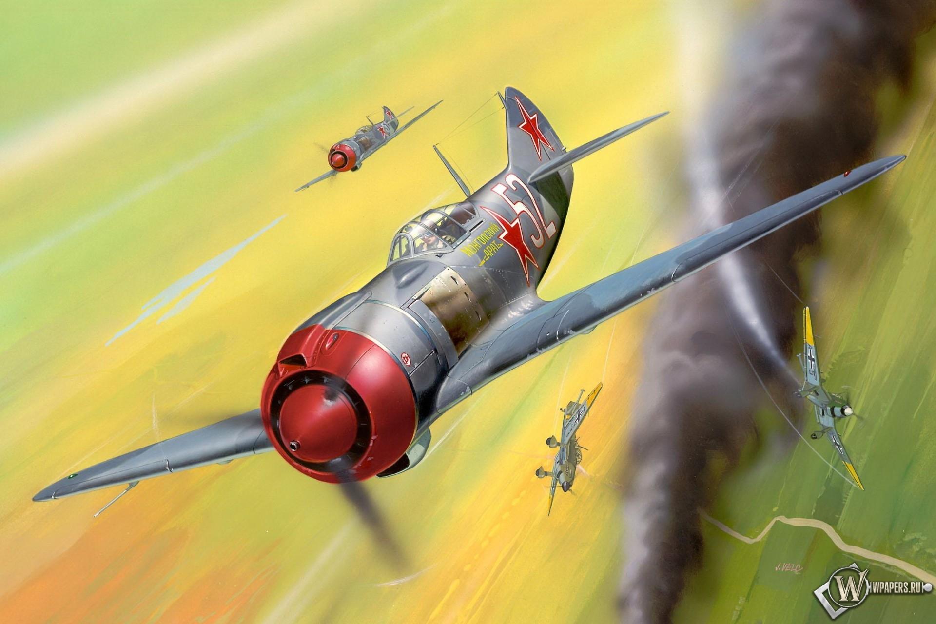 Истребитель Лавочкин Ла-5 1920x1280
