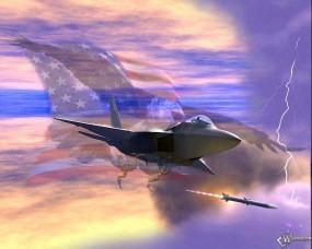 Обои Пуск ракеты из истребителя: Ракета, Истребитель, Истребители