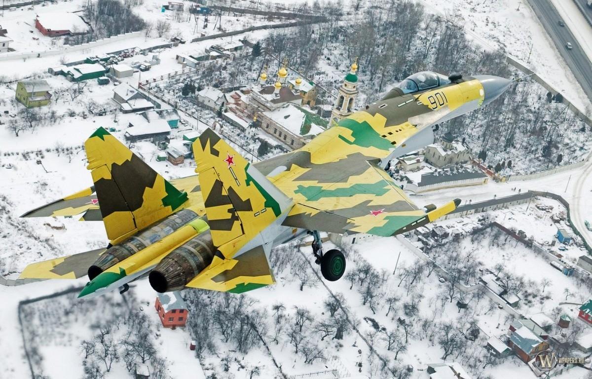 Су-35 - Истребитель - Зима 1200x768