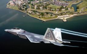 Обои F-22 Raptor: Истребитель, F-22, Истребители