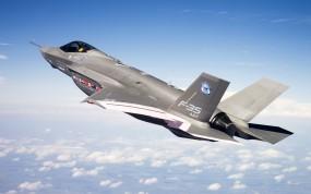 Обои F-35 в полете: Полёт, Истребитель, Высота, F-35, Истребители