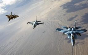 Обои F-15 Eagles: Истребители, Полёт, Колонна, F-15, Истребители