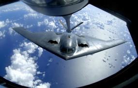 Обои Дозаправка B-2: Истребитель, Дозаправка, B-2, Истребители