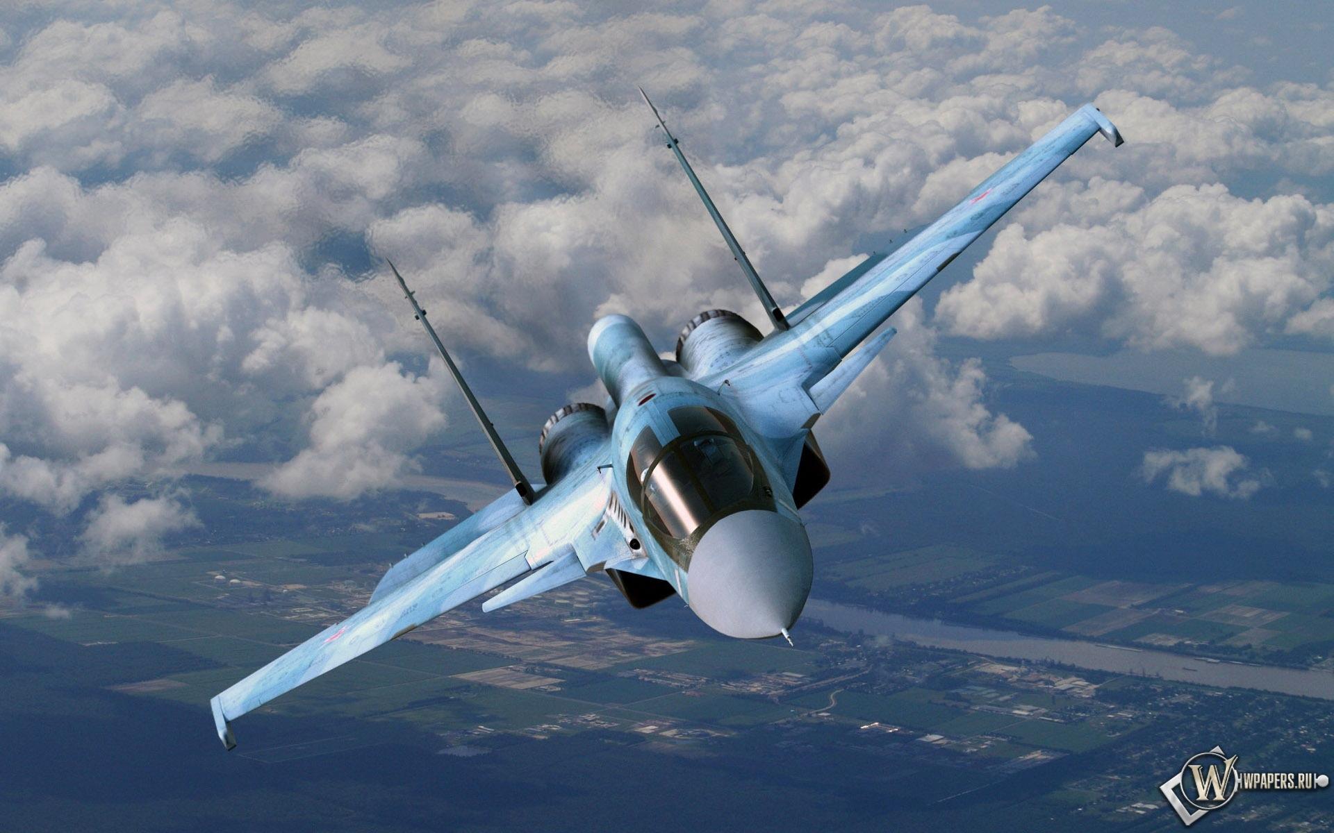 Su-34 Flanker-E 1920x1200