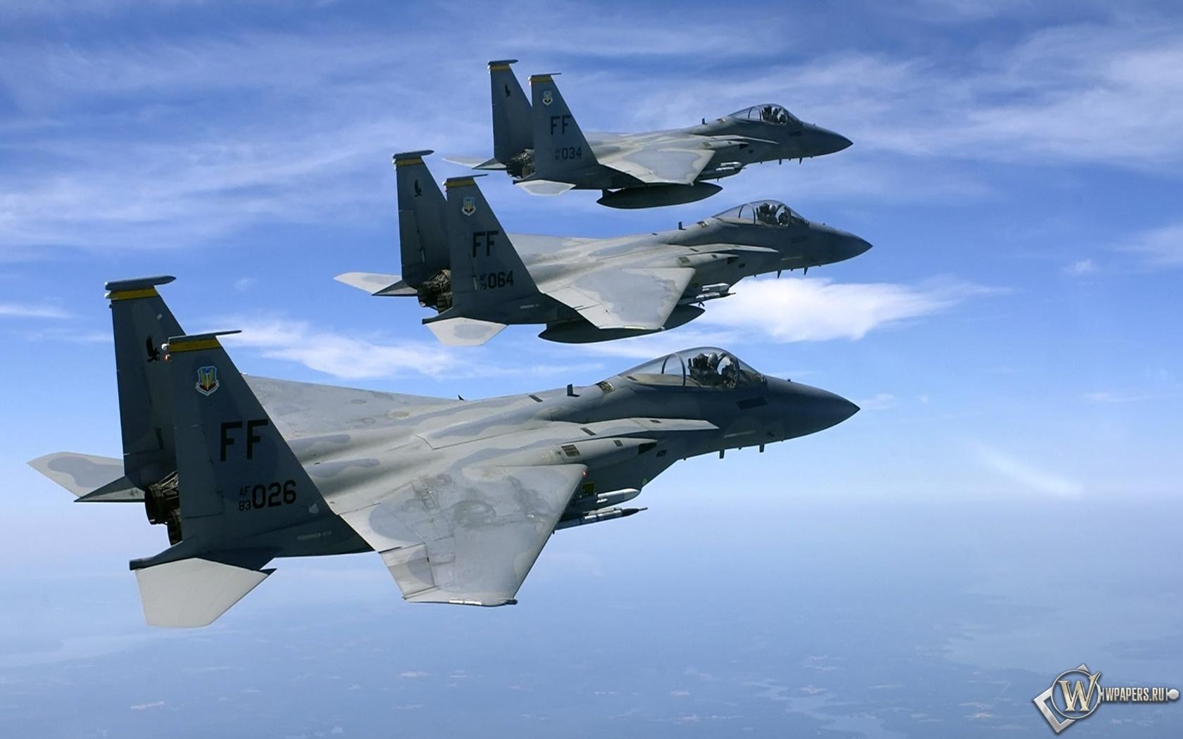 Полет трех F15 1680x1050