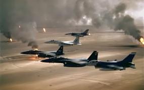 Обои Desert Storm: Война, Истребители, Пустыня, Авиаудар, Истребители