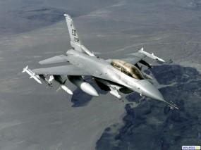 Обои Истребитель F-16: Истребитель, F-16, Истребители