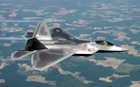 Обои F22 Raptor: Полёт, F-22, Raptor, Истребители