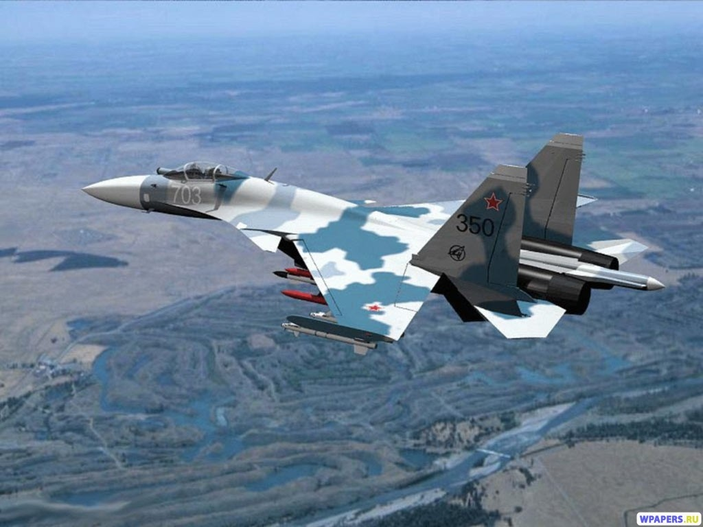 Истребитель Су-30М 1024x768