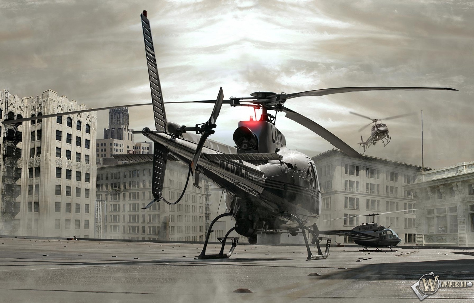 вертолеты на крыше 1600x1024