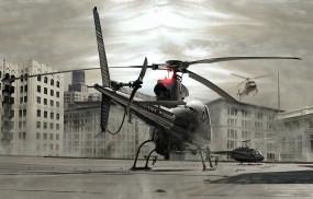Обои вертолеты на крыше: Здания, Вертолеты, Крыша, Вертолёты