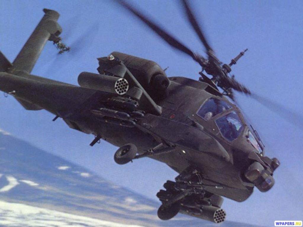 Вертолет AH-64D 1024x768