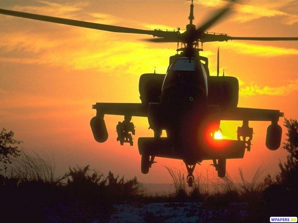 Вертолет АН-64 Apache 1024x768