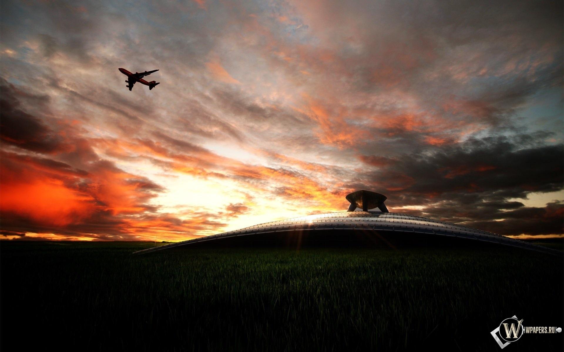 Взлет с аэропорта 1920x1200