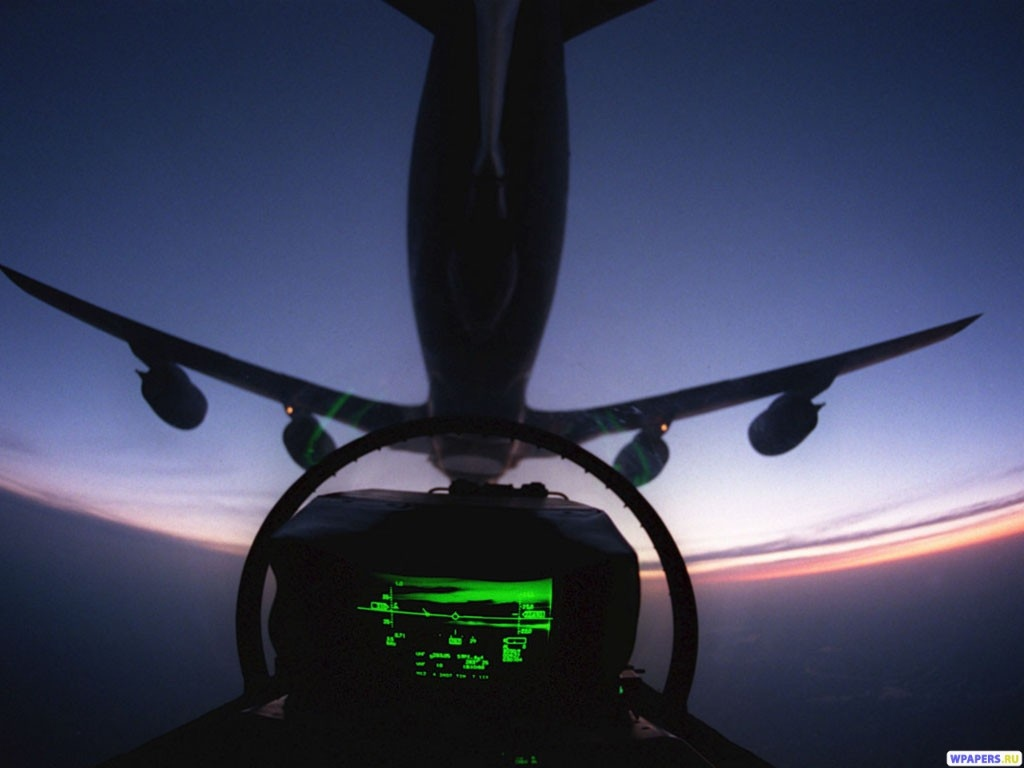 Из кабины пилота 1024x768