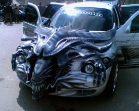 Обои Чужой автомобиль: Автомобиль, Чужой, Aliens, Автомобили