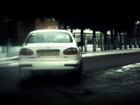 Обои Такси: Город, Туман, Автомобиль, такси, Автомобили