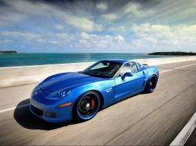 Обои Синий Corvette: Синий, Chevrolet Corvette, Автомобили