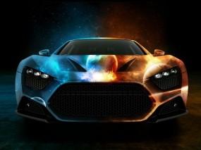 Обои Машина двух миров: Машина, Космос, Планеты, 3D Авто