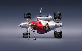 Обои Cosmic Motors: Блондинка, Механизм, Дизайн, технология, 3D Авто