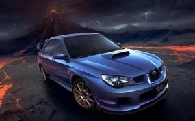 Обои Спортивный субару: 3D, Рисунок, Subaru, Субару, 3D Авто